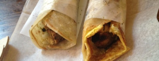 The Kati Roll Company is one of NYC's Greenwich Village.