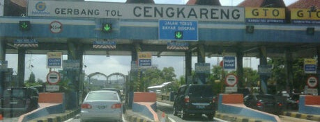 Gerbang Tol Cengkareng is one of Jakarta. Indonesia.