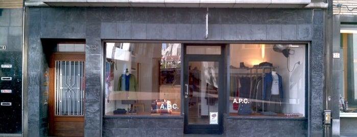 A.P.C. is one of Orte, die andreas gefallen.