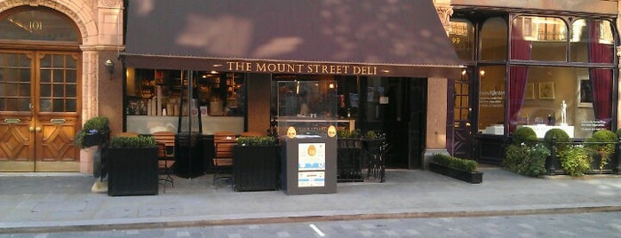 Mount Street Deli is one of clive 님이 좋아한 장소.
