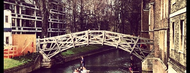 Mathematical Bridge is one of Cambridge.