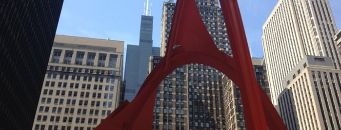 Alexander Calder's Flamingo Sculpture is one of Chicagoland.