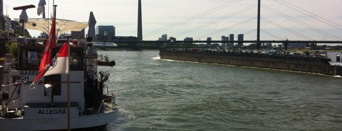 Rheinuferpromenade is one of StorefrontSticker #4sqCities: Düsseldorf.