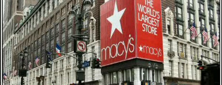 Macy's is one of NYC Shopping spots.