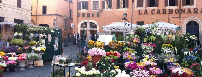 Campo de' Fiori is one of Rome, Winter 2015.