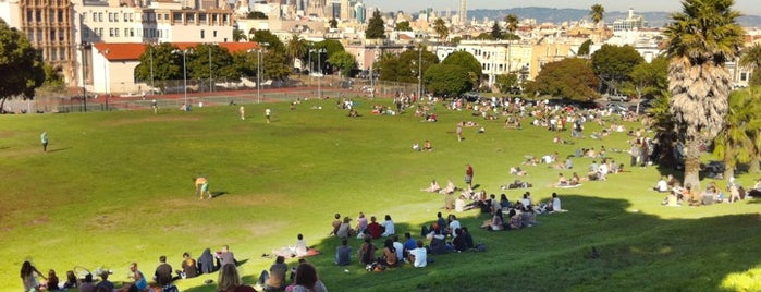 Mission Dolores Park is one of Wes' guide to SF.