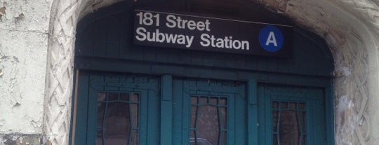 MTA Subway - 181st St (A) is one of National Historic Landmarks in Northern Manhattan.