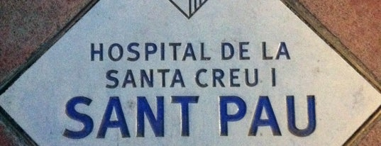 Hospital de la Santa Creu i Sant Pau is one of Barcelona.