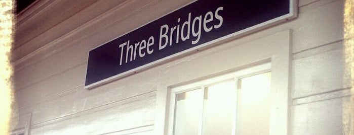 Three Bridges Railway Station (TBD) is one of You calling me a train spotter?.