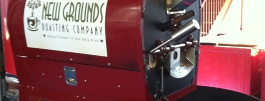 New Grounds Roasting Company is one of First Friday: Mamapalooza.