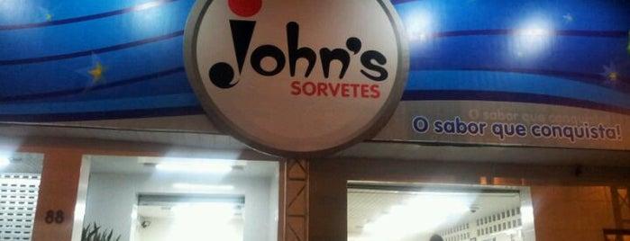John's Sorveteria is one of Locais curtidos por Danilo.