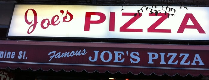 Joe's Pizza is one of NYC's West Village.