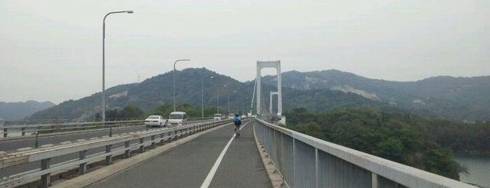 伯方・大島大橋 is one of 西瀬戸自動車道(しまなみ海道).