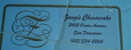 Zanze's Cheesecake is one of 100 places to eat in SF before you die.