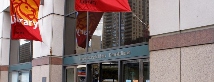 New York Public Library - Riverside Library is one of Tempat yang Disukai Brian.