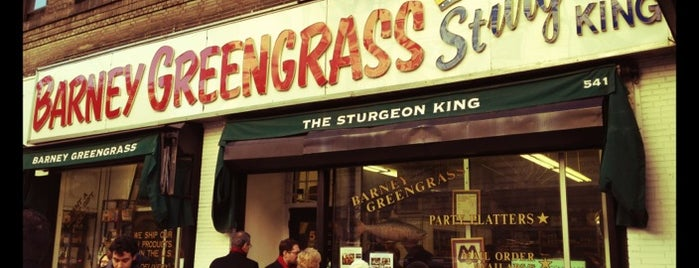 Barney Greengrass is one of NY Region Old-Timey Bars, Cafes, and Restaurants.