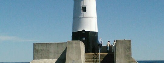 Canal Park Lighthouse is one of Minnie.