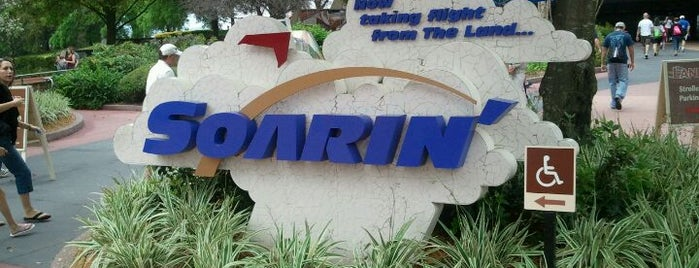 Soarin' is one of Epcot.