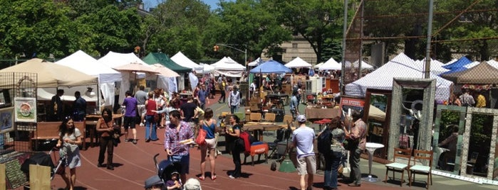 Brooklyn Flea - Fort Greene is one of NYC Summer Spots.