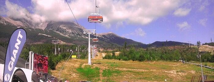 Kabínková lanovka Tatranská Lomnica – Skalnaté pleso is one of Slovakia Tatry Vacation.