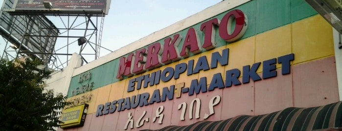 Merkato Ethiopian Restaurant is one of Late night LA.