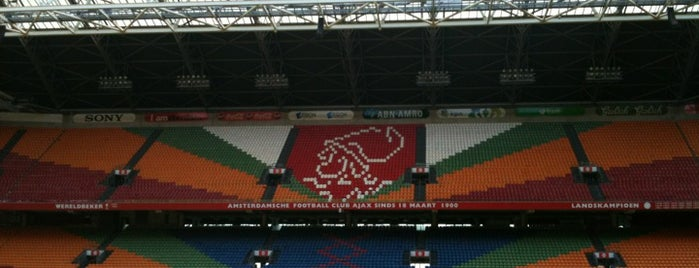 Johan Cruijf Arena is one of The Great Football Pilgrimage.