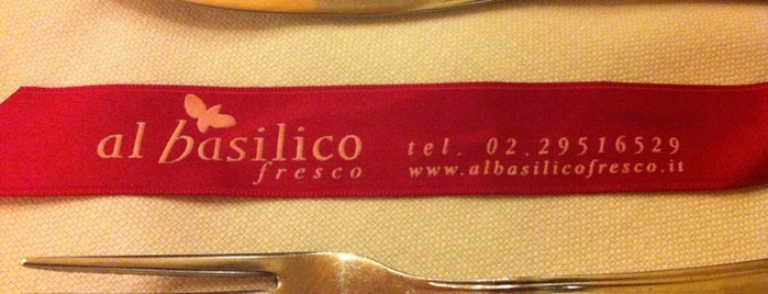 Al basilico fresco is one of Locais salvos de Valentina.