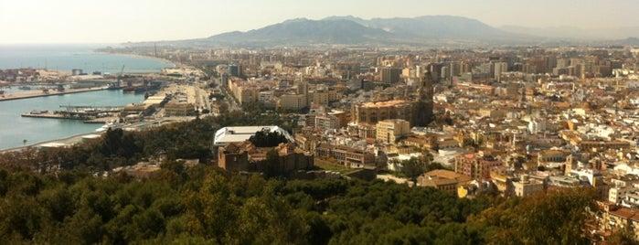 Castillo de Gibralfaro is one of Malaga.