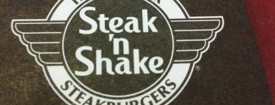 Steak 'n Shake is one of Tempat yang Disukai Bradley.