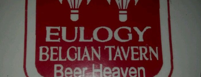 Eulogy Belgian Tavern is one of 100 Beer Bars to Try.