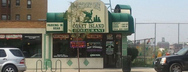 Detroit One Coney Island is one of Coney Island Hot Dog Joints.