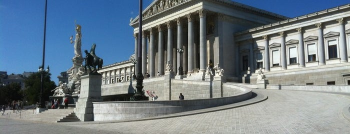 Parlament is one of Highlights on the Ringstrasse.