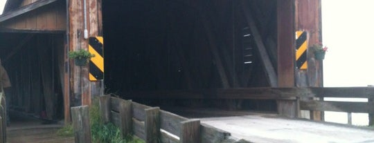 Harpersfield Covered Bridge is one of Places to see.