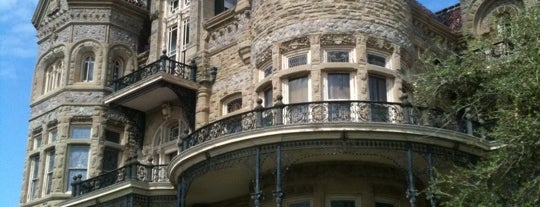 1892 Bishop's Palace is one of Galveston.