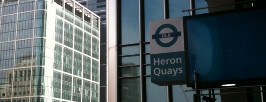 Heron Quays DLR Station is one of Railway stations visited.