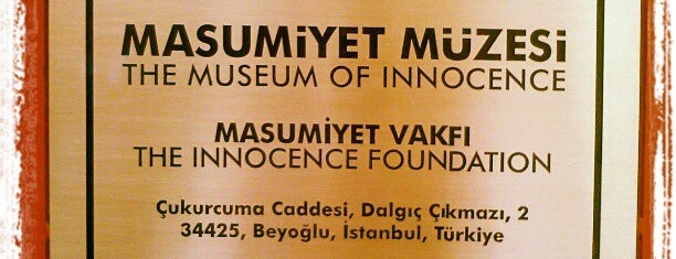 Masumiyet Müzesi is one of Tarih/Kültür (Marmara).