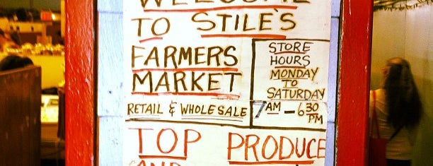 Stile's Farmers Market is one of New York.