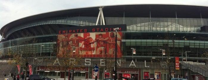 Emirates Stadium is one of LONDON.