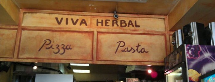 Viva Herbal Pizzeria is one of My favs.