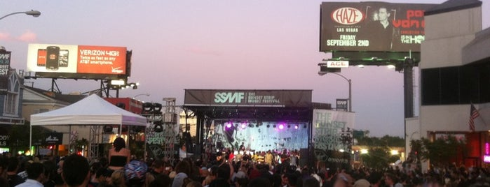 Sunset Strip Music Festival 2011 is one of Top Music Venues.