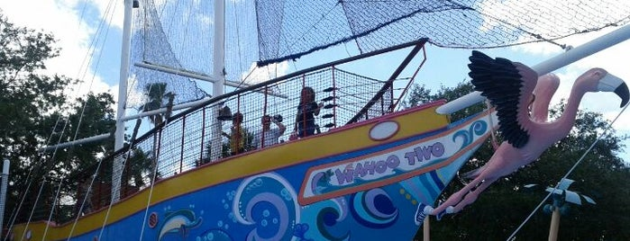 Shamu's Happy Harbor is one of Disney Land Florida.