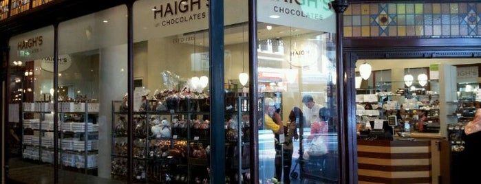 Haigh's Chocolates is one of Sydney.