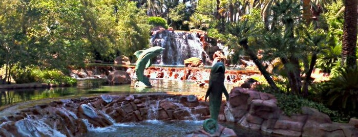 The Mirage Waterfall is one of 101 places to see in Las Vegas before your die.