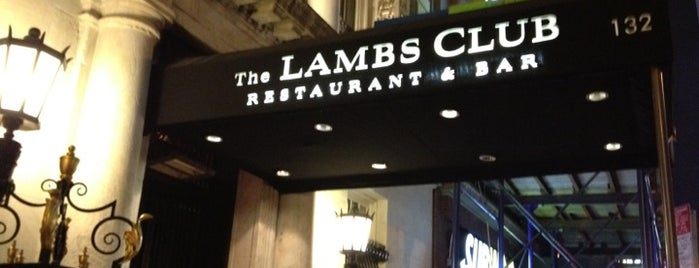 The Lambs Club is one of Tempat yang Disimpan Lizzie.
