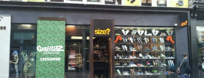 size? is one of London Not-Food Places.