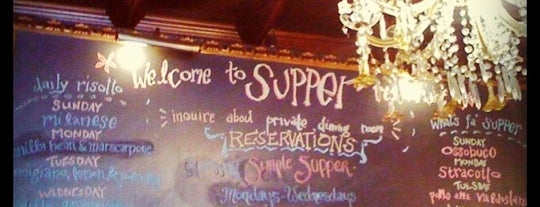 Supper is one of Date night spots (you're welcome).