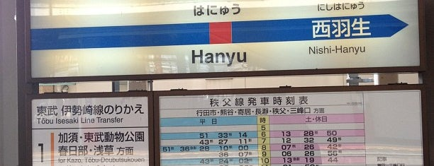 Hanyu Station is one of Lieux qui ont plu à Masahiro.