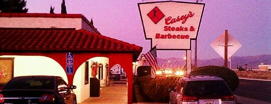 Casey's BBQ is one of Lugares favoritos de Elijah.