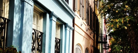 Rainbow Row is one of Charleston.