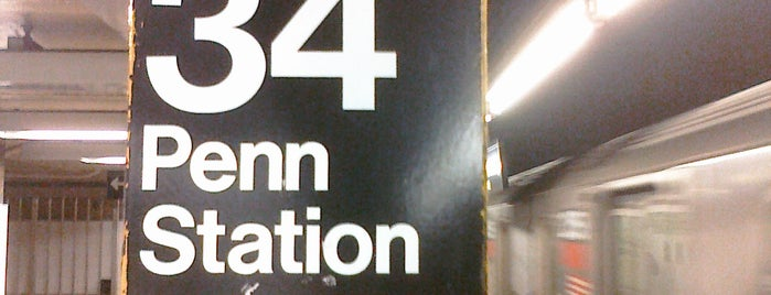 MTA Subway - 34th St/Penn Station (1/2/3) is one of Lugares favoritos de Alberto J S.